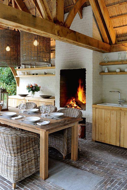 A l ¡ n a ☆ Cucina con camino alto | veranda | Pinterest ...