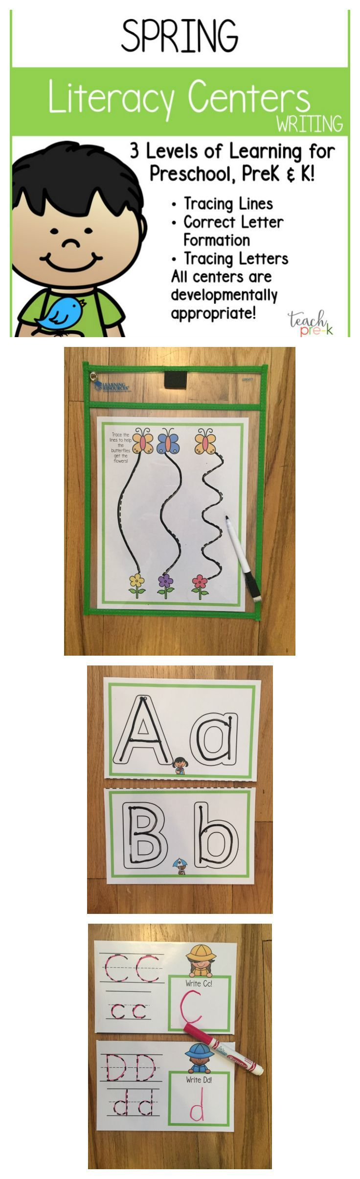Spring Literacy Centers Writing for Preschool PreK