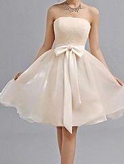 Bridesmaid Dress Knee-length Chiffon A-line Swe... – USD $ 49.99