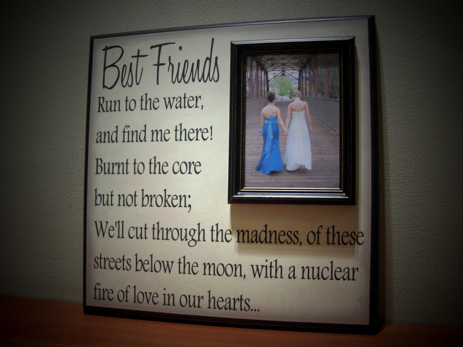 Best friends picture frame maid of honor by yourpicturestory best friends picture frame maid of honor by yourpicturestory 7000 jeuxipadfo Choice Image