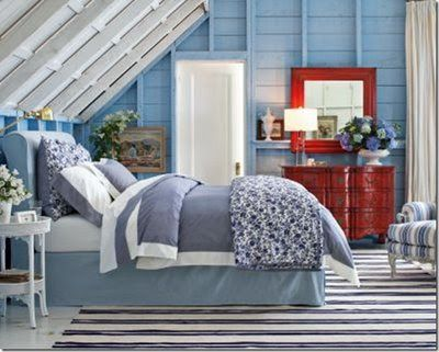 Hydrangea Hill Cottage: Red, White and Blue Cottage Bedrooms