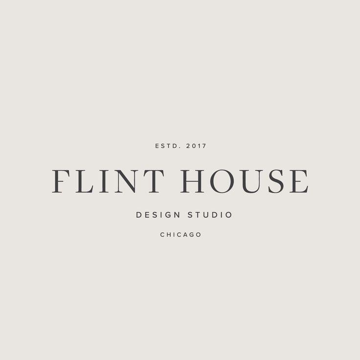 Minimalist Studio Logo Branding Designed By Flint House Logo