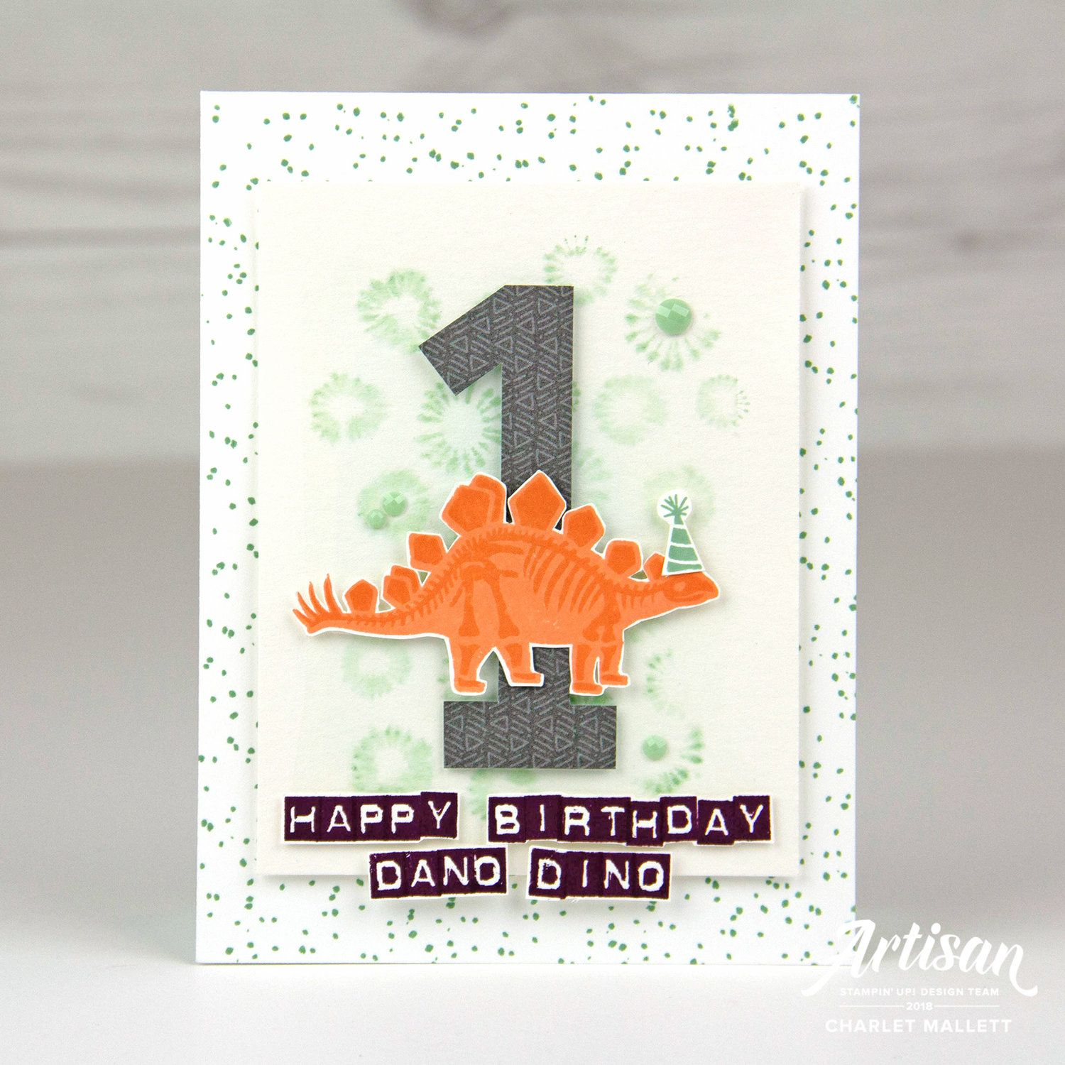 Dinosaur 1st Birthday Card Using Backgrounds Labeler Alphabet And No Bones About It