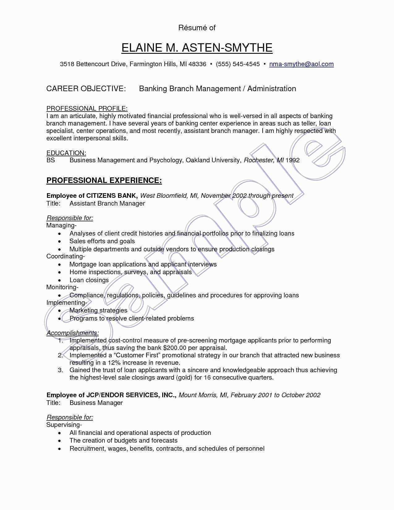 71 Luxury Collection Of Sample Resume For Hospitality Professional