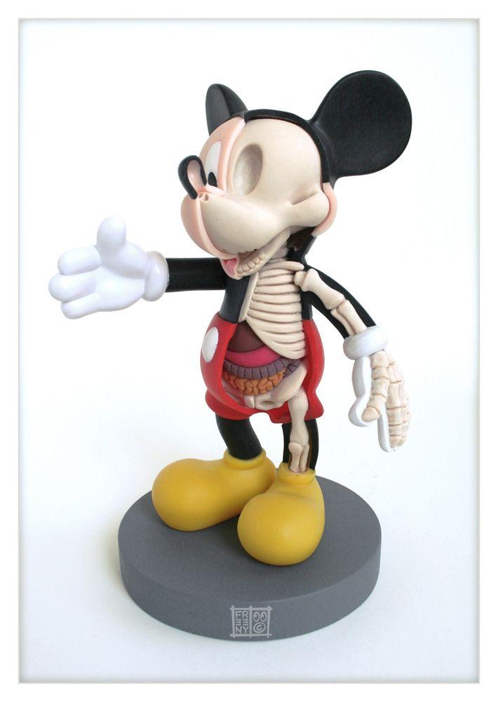 Mickey Mouse Anatomy Sculpt x by Jason Freeny on deviantART