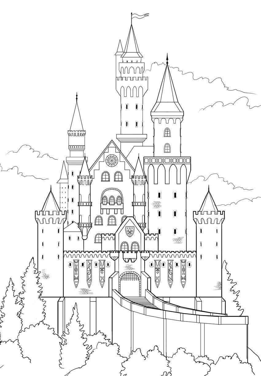 Pin Von Sarah Felts Auf Drawing Schlosszeichnung Grossartige Zeichnungen Zeichenvorlagen