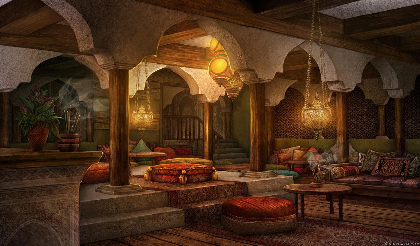 Solstice Inn By Vinegar On Deviantart Fantasy Inn