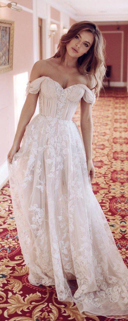 Wedding dress Blush nude beige peach Sexy wedding dress off shoulder wedding dress corset gown cup sleeves romantic bustier wedding dress