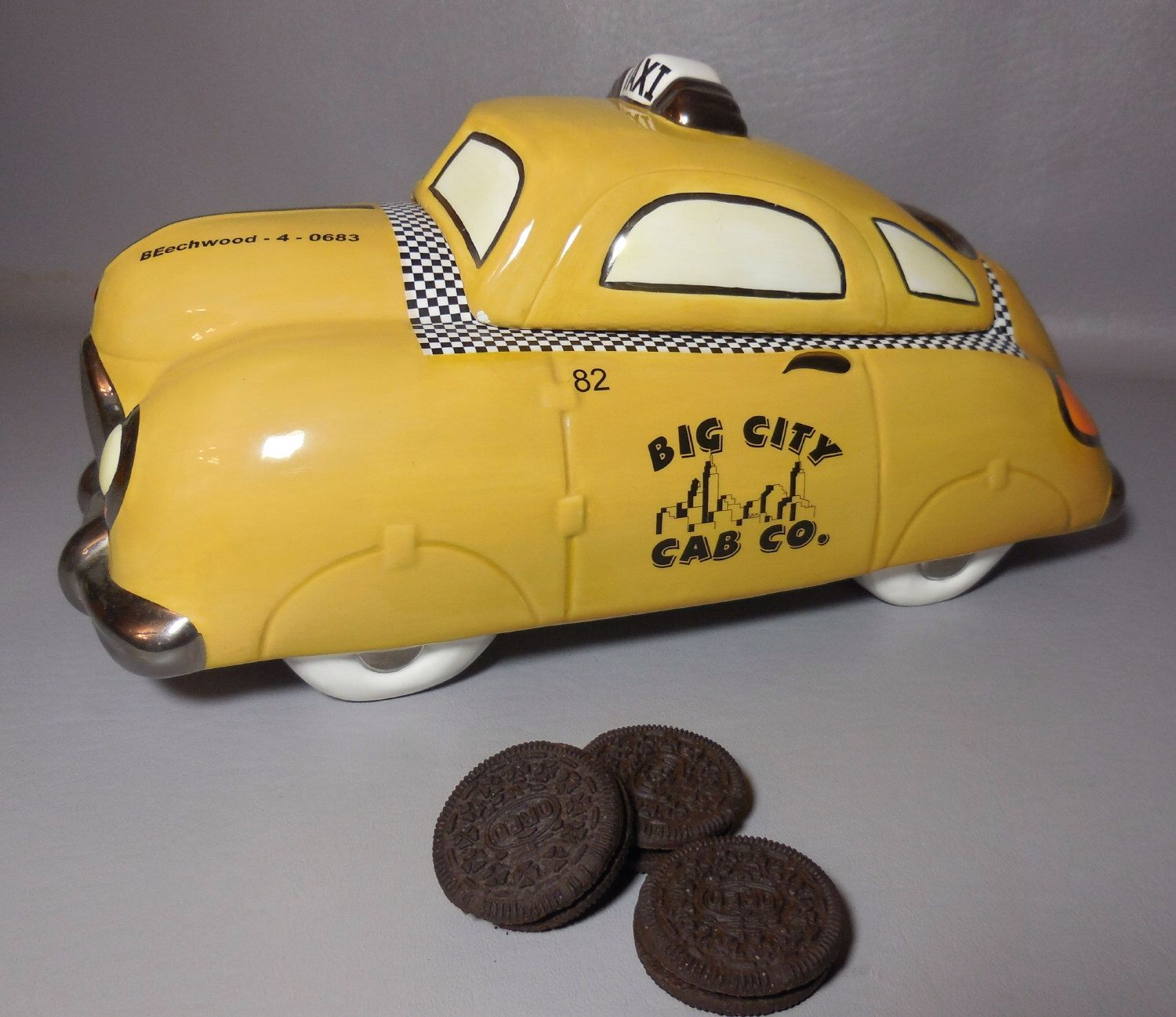 Taxi Cab Cookie Jar Big City Extra Large By Henry Cavanagh