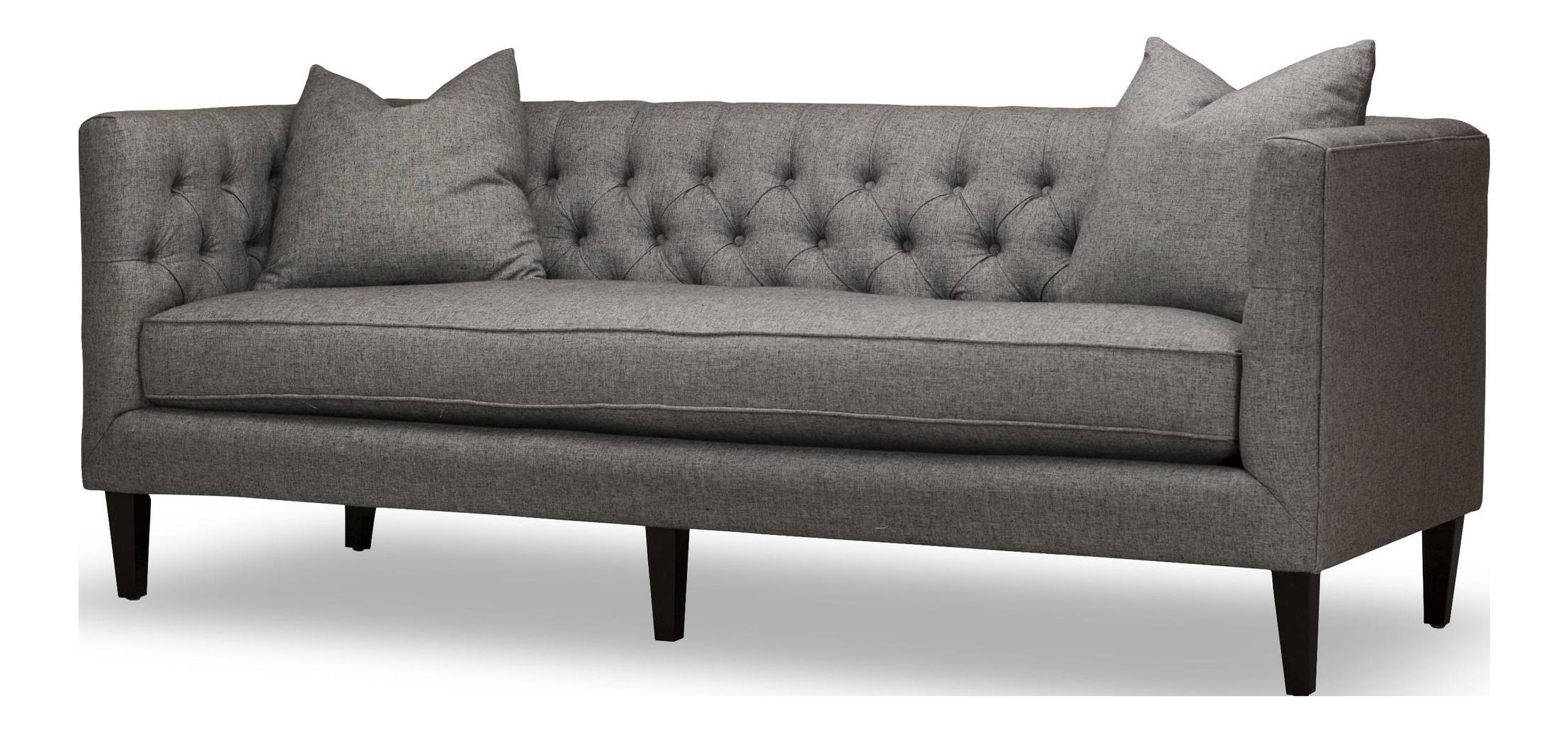 """Spectra Home Modern Dark Gray 84"""" Tuxedo Bench Seat Sofa"""