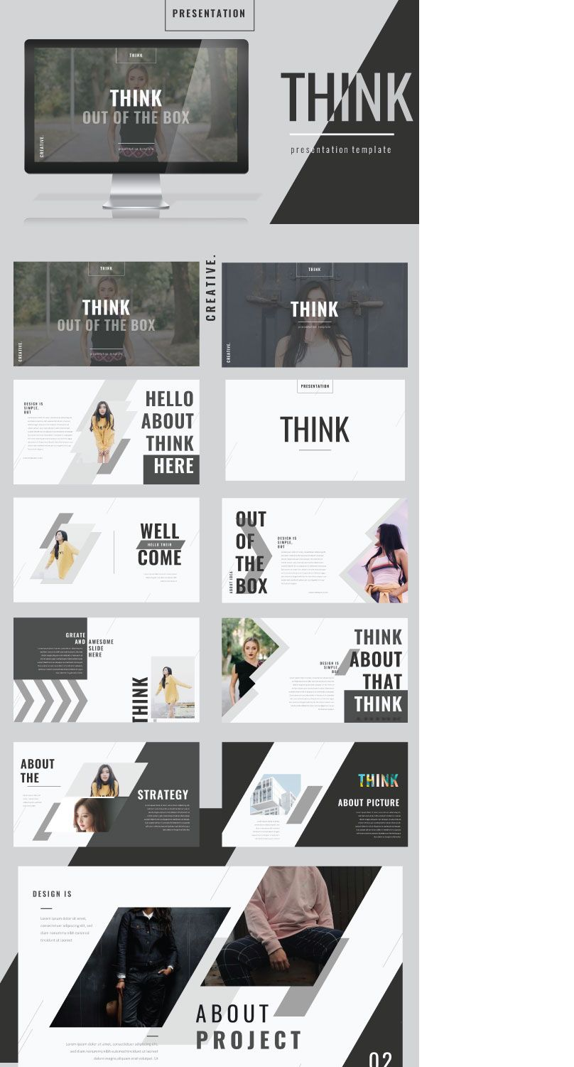 "Check out my @Behance project: ""Think Google Slide Template"" https ..."