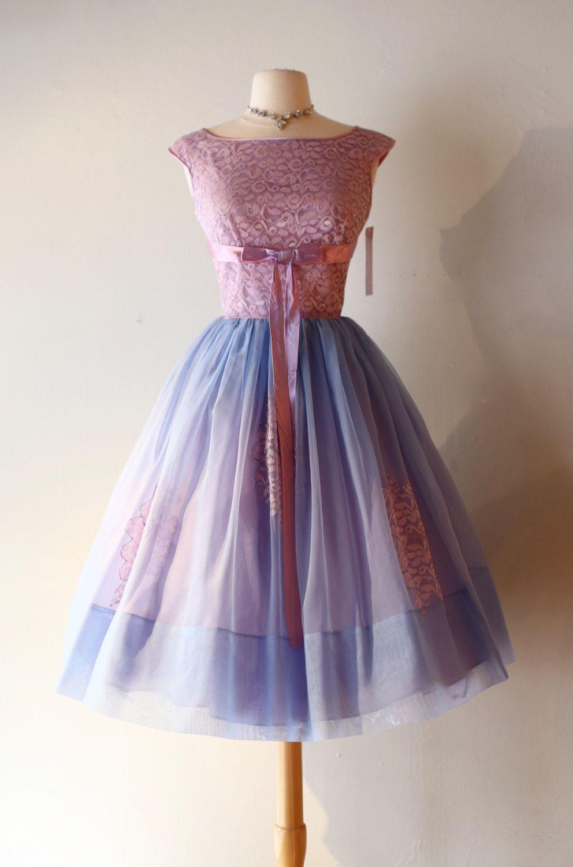 Vintage us hydrangea haze party dress vintage s cupcake