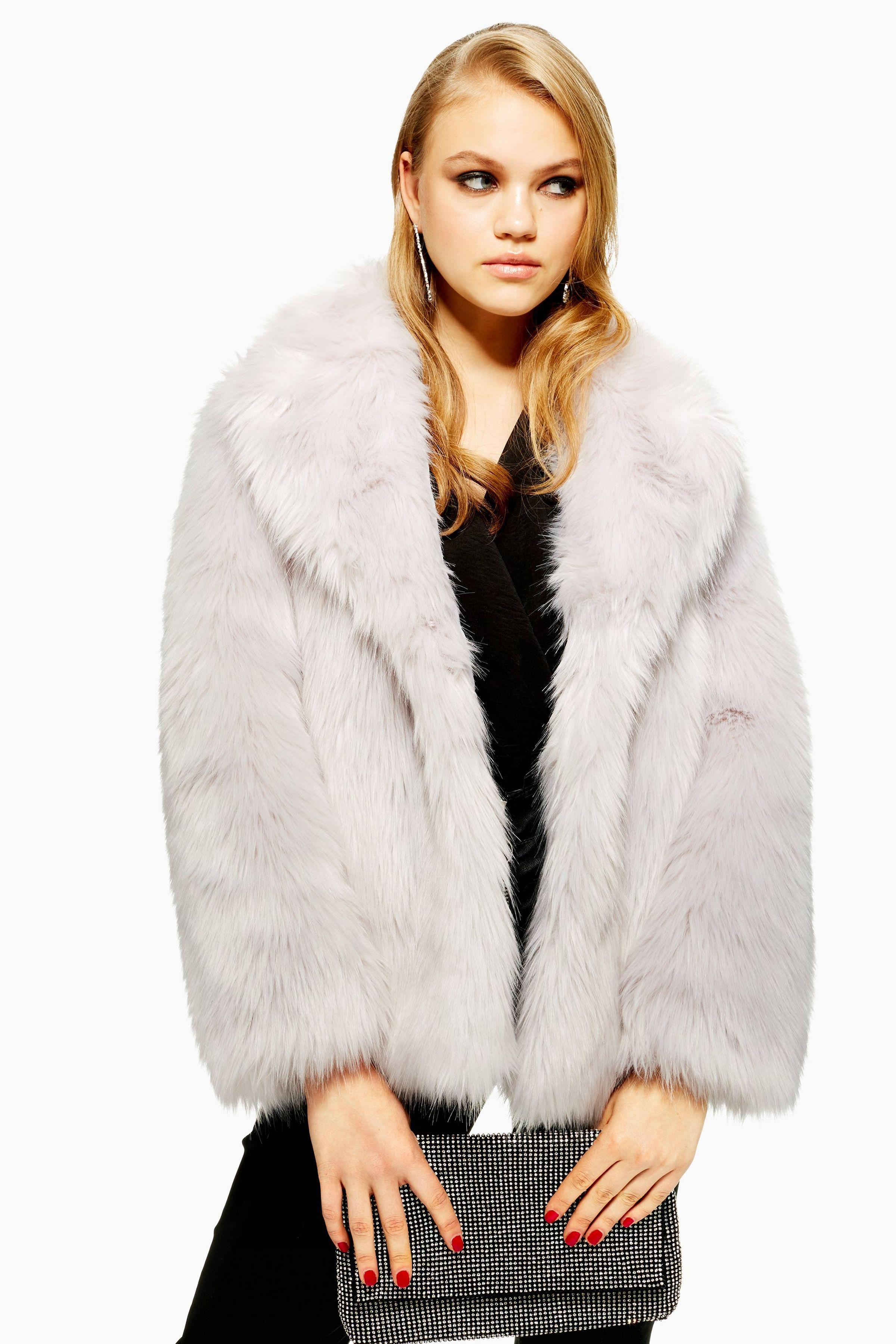d306ac9a4523 Luxe Faux Fur Coat | Fashion | Grey faux fur coat, Faux fur, Fur