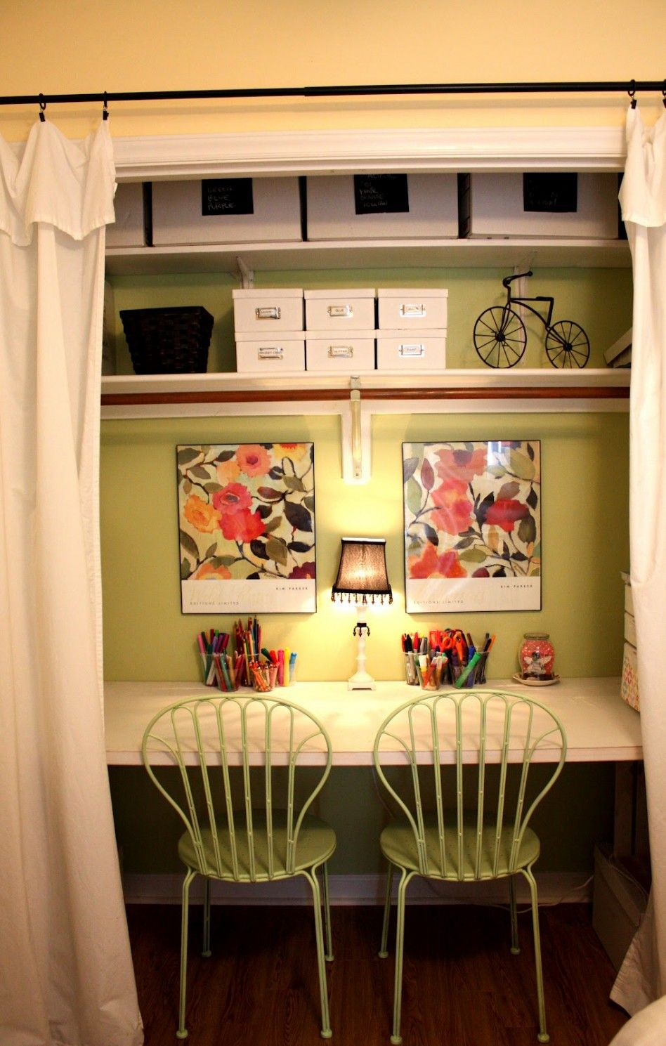 Furniture under stair shelves and storage space ideas for Dining room closet ideas