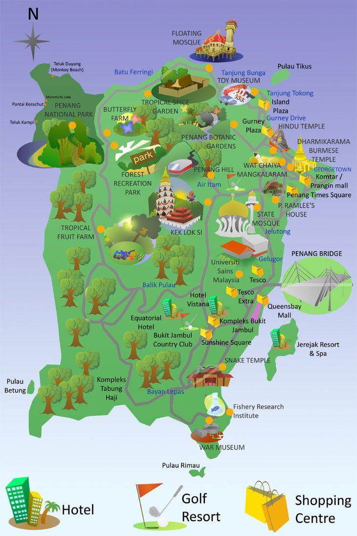 Penang Tourist Map Ask Com Image Search Proyek Untuk