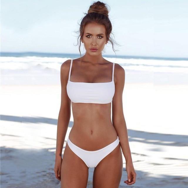 c56c7c69c0 Lefeel 2018 Sexy Bikini Set Women Swimsuit Solid Bikini Backless Swimwear  Low Waist Bathing Suit Female Brazilian Biquini
