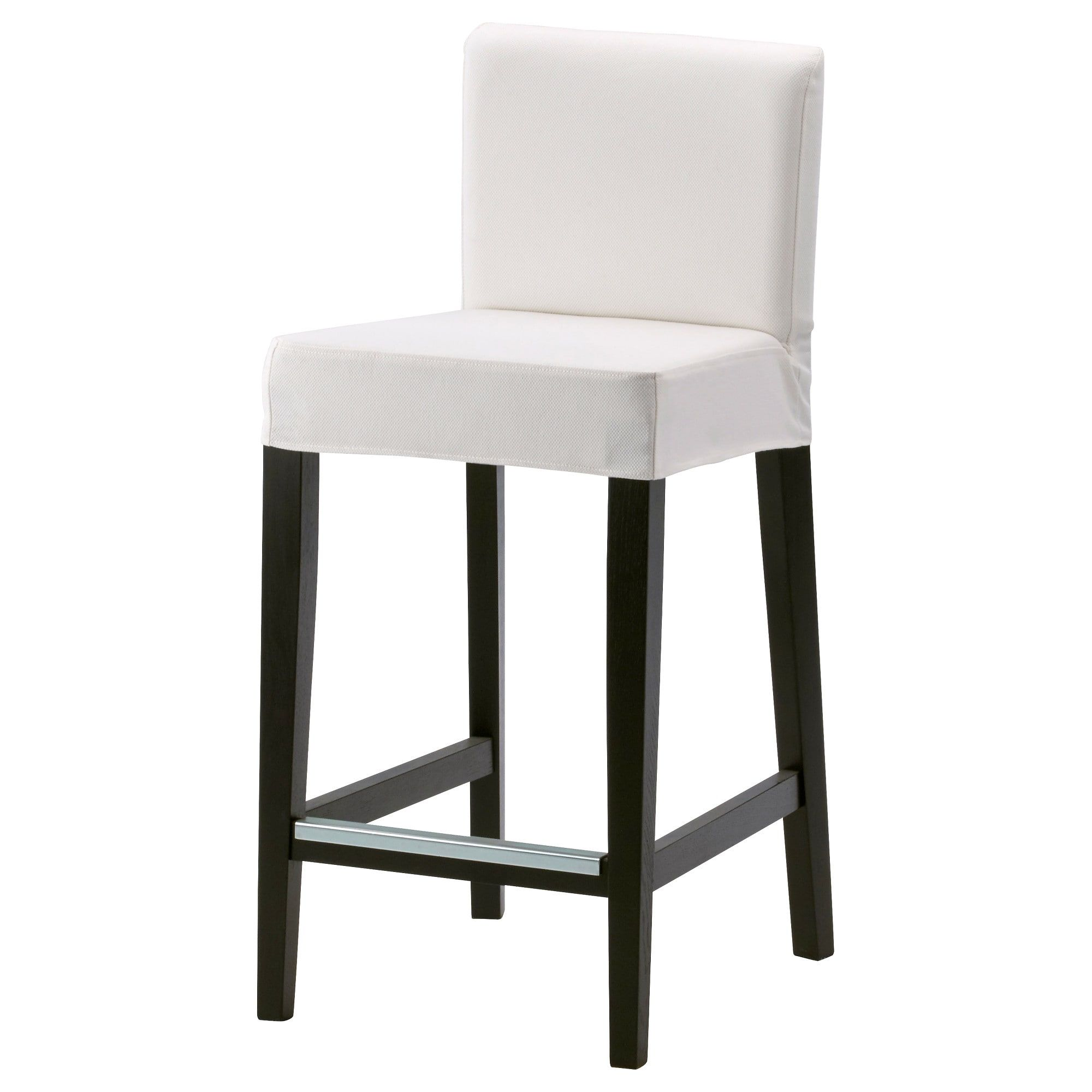 HENRIKSDAL Bar stool with backrest brownblack, Gräsbo