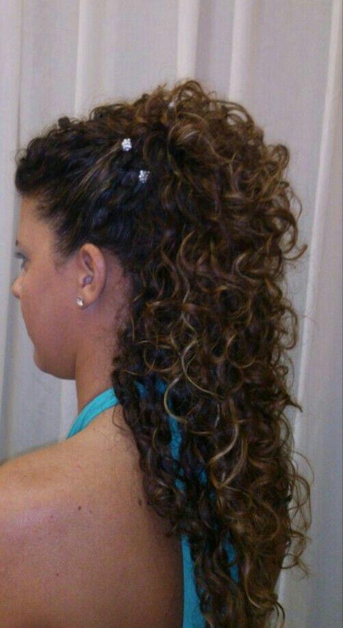 curly hair recogido boda pelo rizado semirecogido