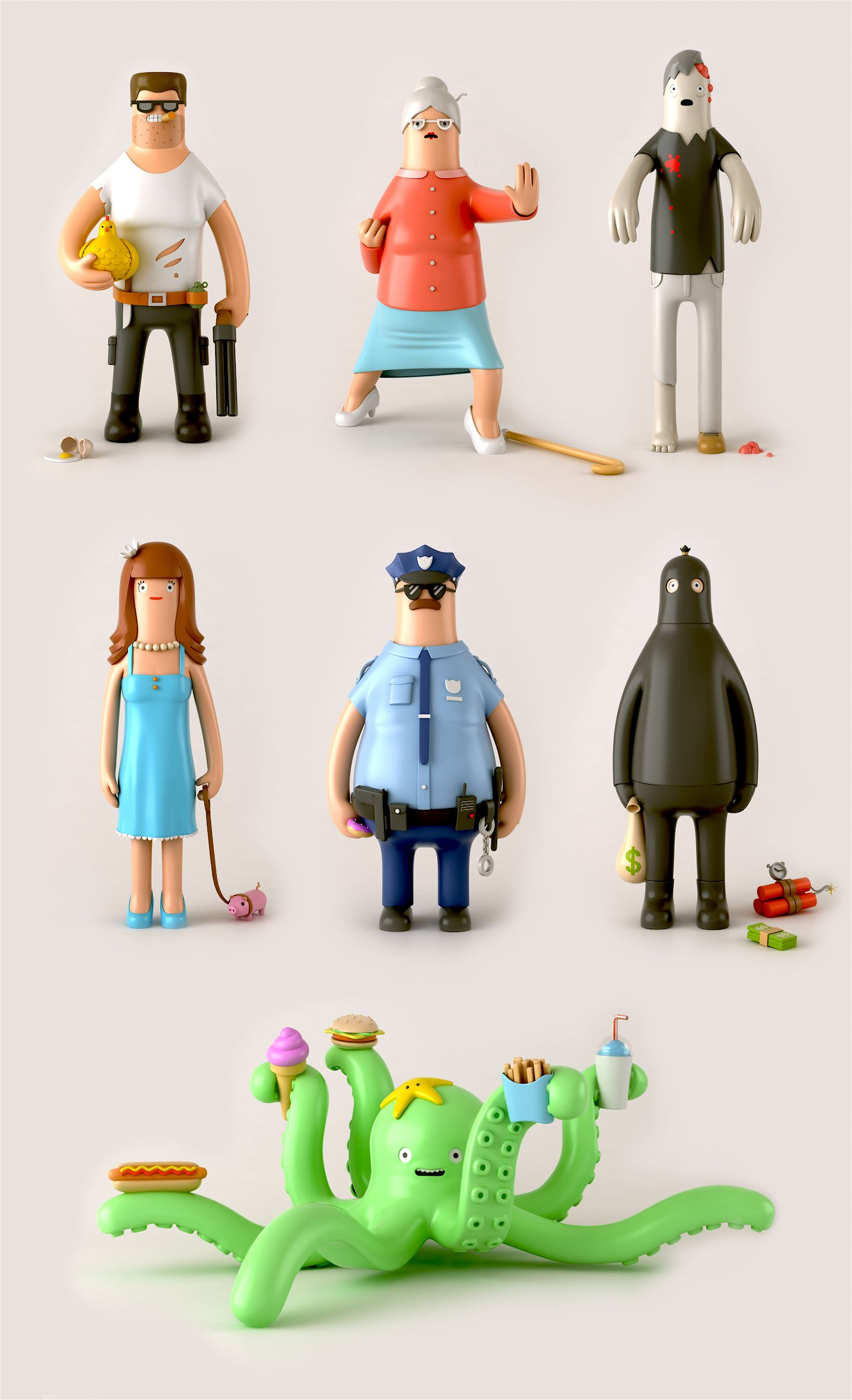 Heroes and Villains by Yum Yum London | Yum yum, Toy and Graphic ...