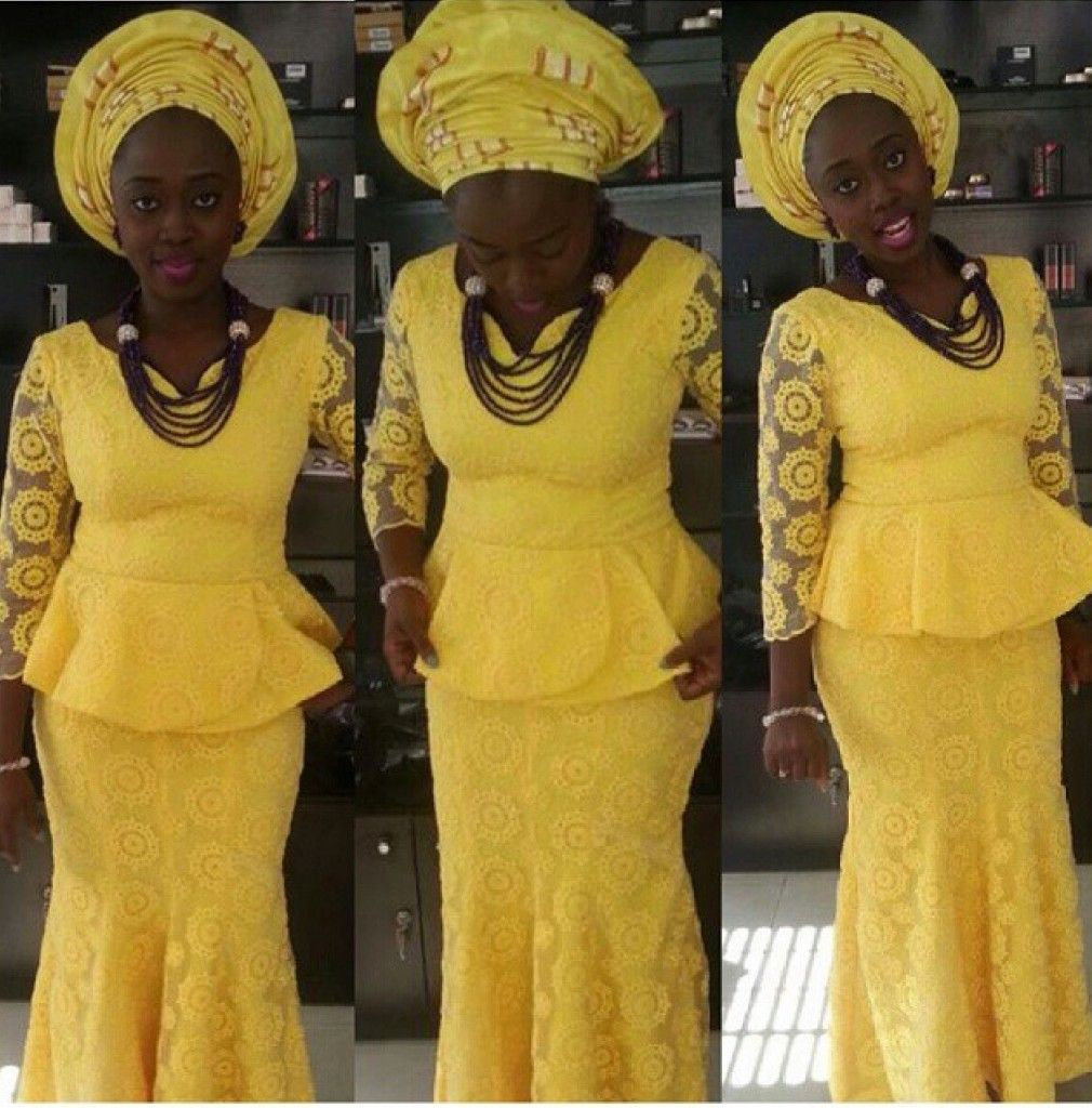 Lace short dress styles in nigeria  Latest African Fashion African Prints African fashion styles