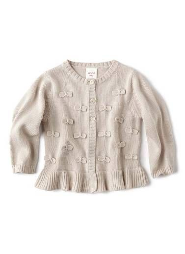 624107622 Baby girl bow knitted cardigan