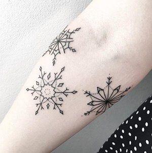 Delicate Snowflake Tattoo