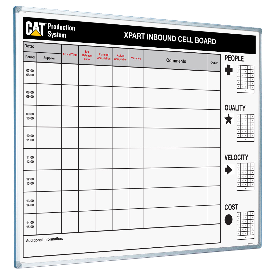 Caterpillar Production System Printed Whiteboard