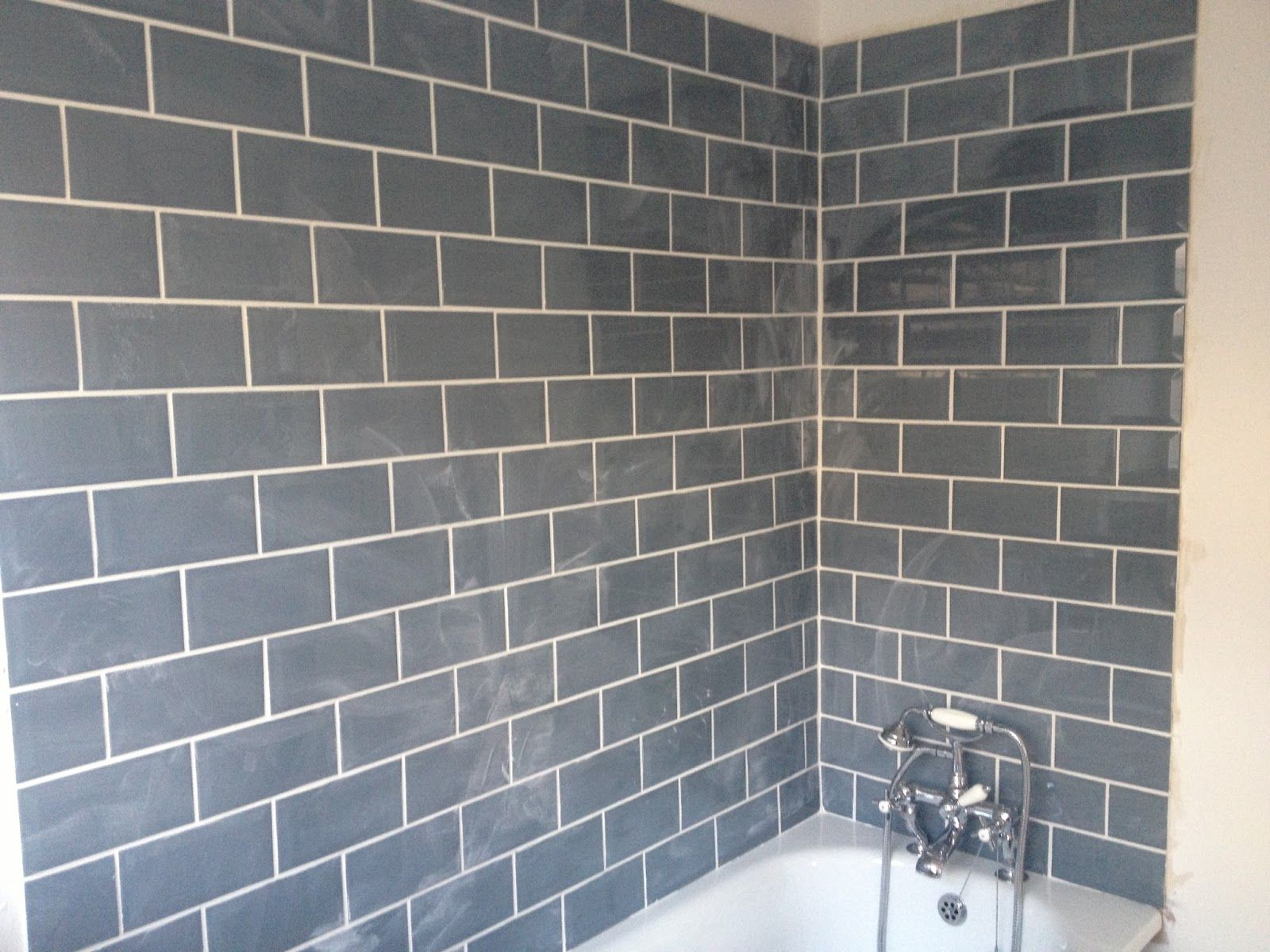 Image result for cream metro tiles with grey grout | Bathrooms ...