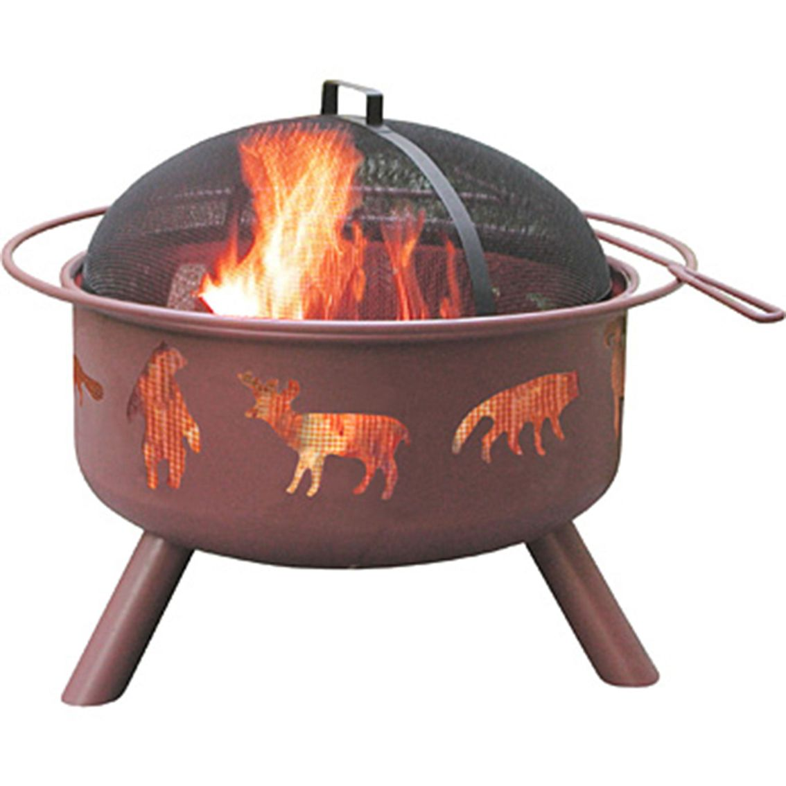 Unique And Stylish Decorative Stars And Moons Cutouts Create An Incredible Ambiance Full Size Enamel Cooking Grate Can Be Used As A Patio Paradise Clay Fire Pit Fire Pit Backyard