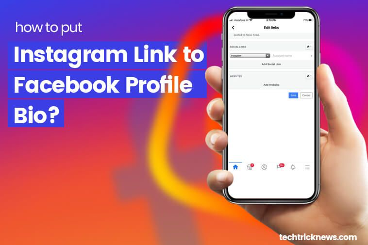 How To Add Instagram Link To Facebook Bio Facebook Bio Facebook Profile Instagram