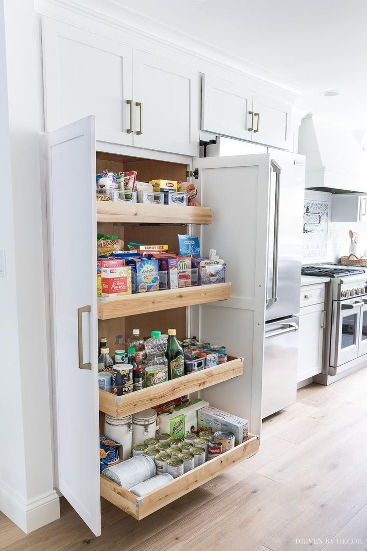 Photo of A large pantry was a must for my kitchen building! LOVE my new high and deep p