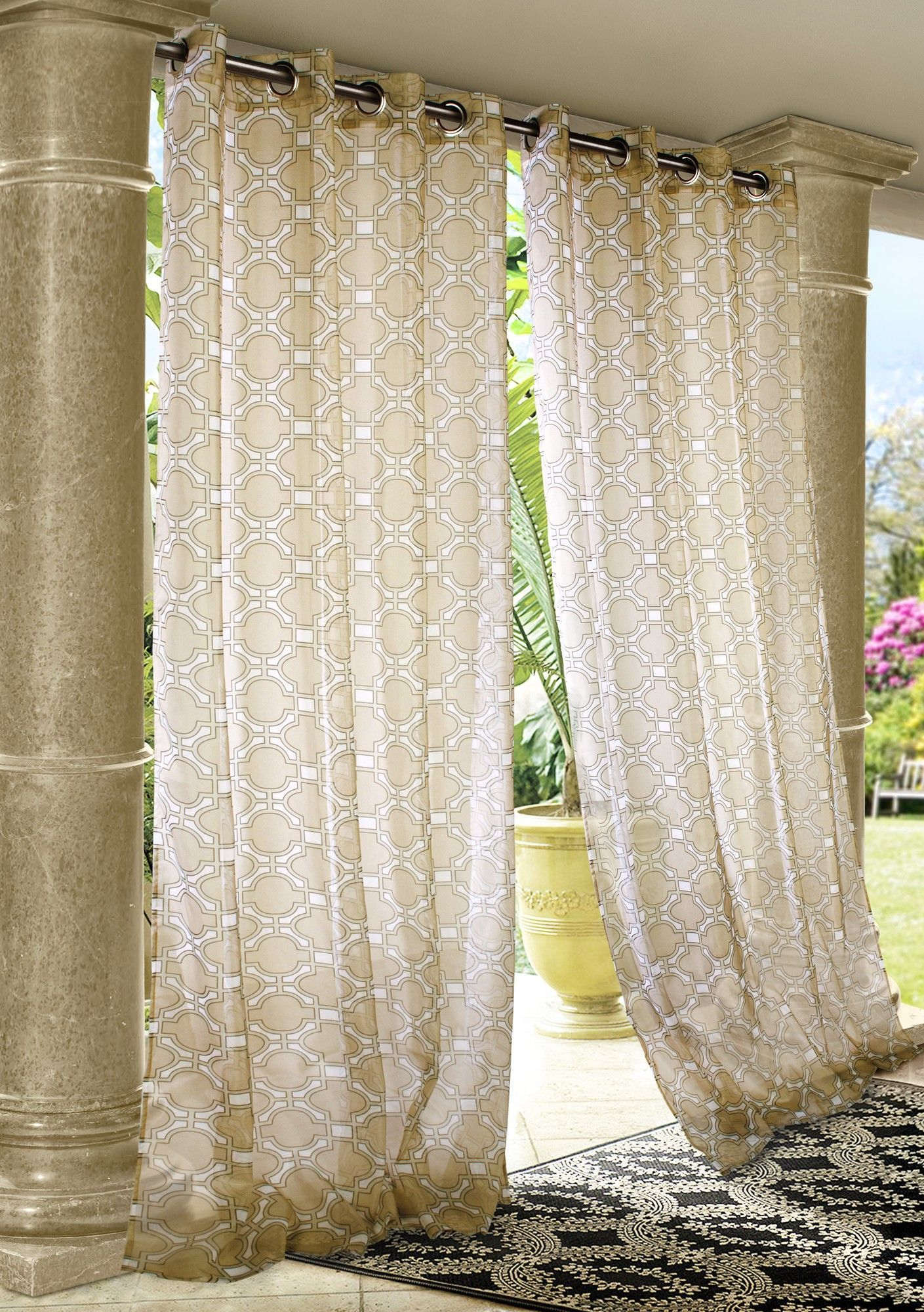 Features Malpaso Collection Material 100 Polyester Mildew Resistant Water Repellant Uv Outdoor Curtain Panels Outdoor Curtains Outdoor Panels
