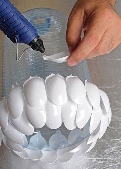 Como hacer una lámpara de techo reciclada « Manualidades Proyectos