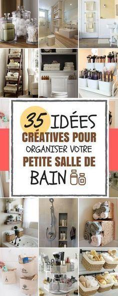 35 id es cr atives pour organiser sa petite salle de bain tre ignor petites salles de bain. Black Bedroom Furniture Sets. Home Design Ideas