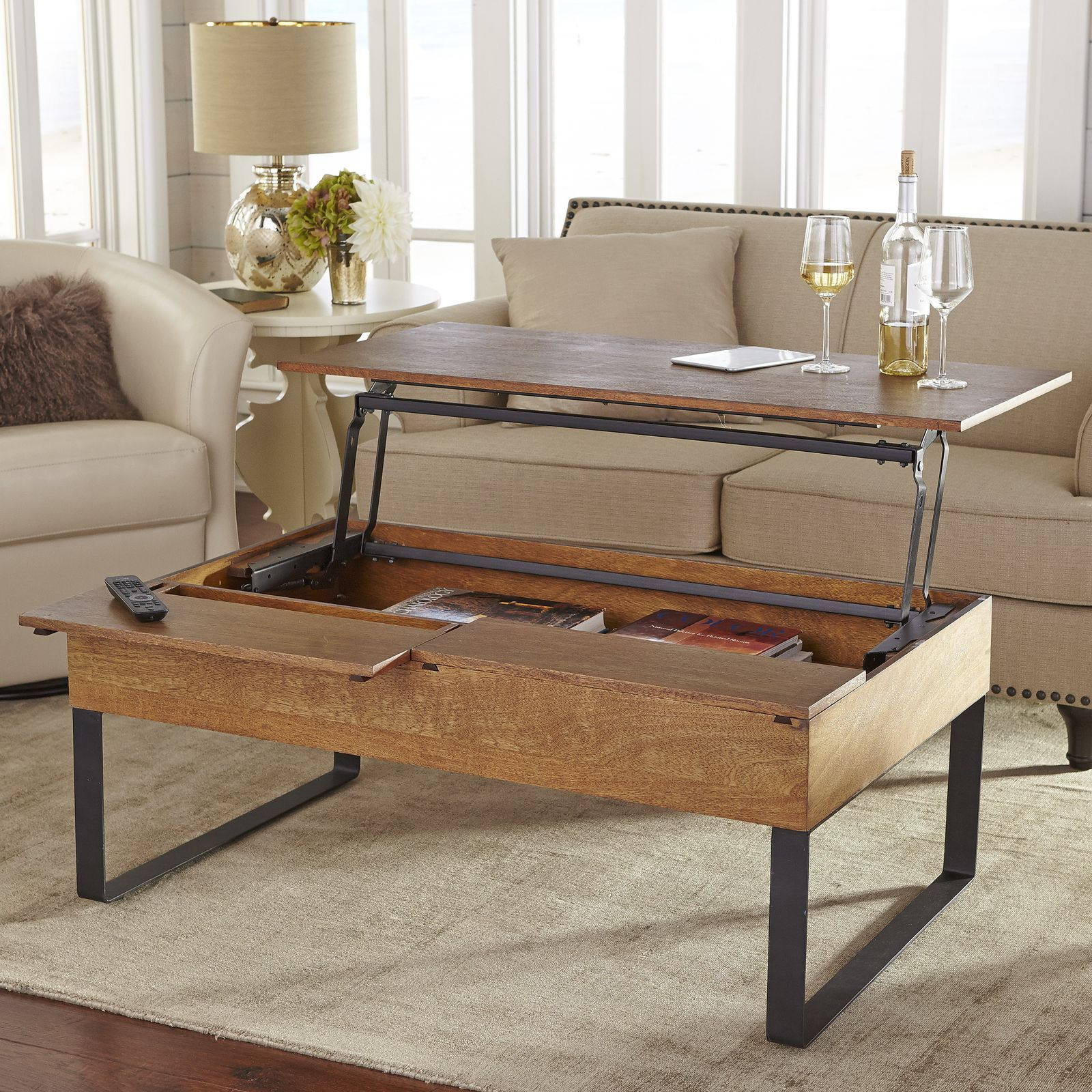 Lift Top Coffee Table New in Image of Collection