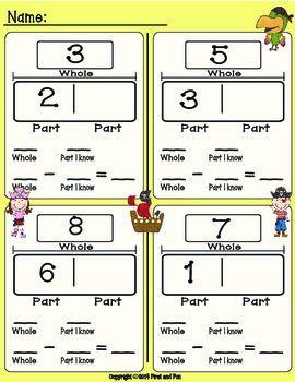 Here S A Pirate Themed Set Of Materials For Part Part Whole Activities Math Classroom Third Grade Math First Grade Math