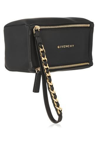 Small Pandora wristlet bag in black coated canvas #accessories #covetme #givenchy