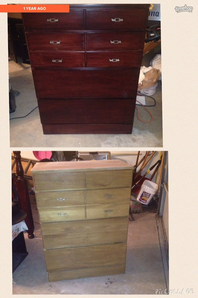 Dresser Refinished With General Finishes Gel Stain On Georgian
