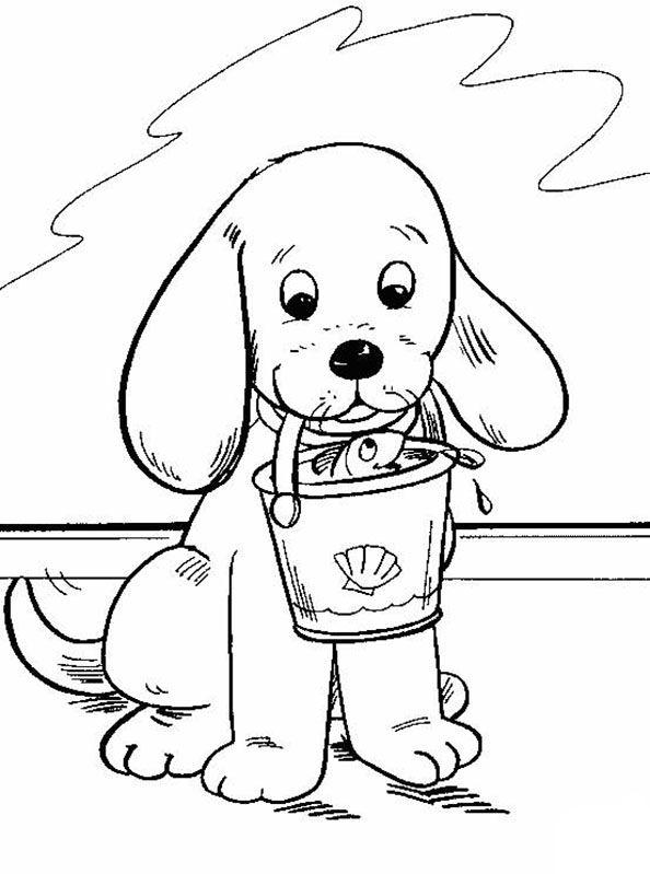 Dibujos para colorear animales: Simpático perrito | Dibujos para ...