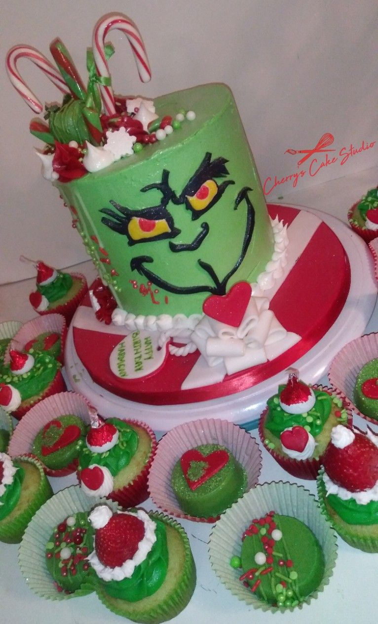 Grinch cake and treats grinch howthegrinchstolechristmas