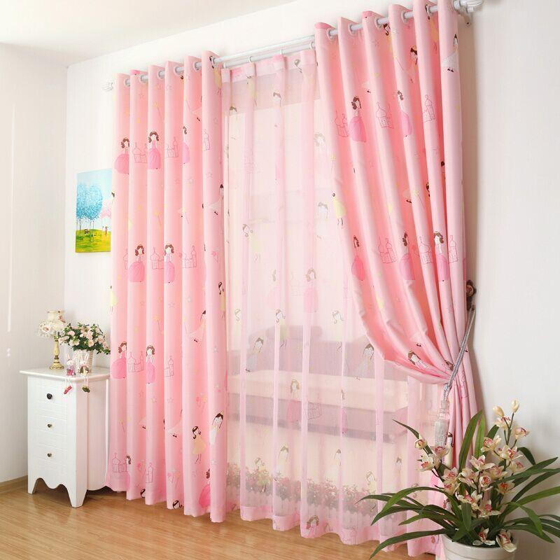 Cute cartoon custom green shading cloth curtains for living room ...