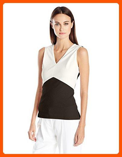 0e68d90013927 Calvin Klein Women s Top W  Textured Colorblock