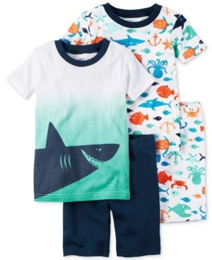Carter's 4-Pc. Shark Cotton Pajama Set, Baby Boys (0-24 months) - Blue 24 months