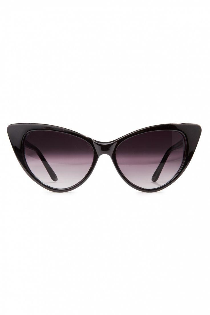765f8390ea6 So Retro - 50s Fenella Cat Eye Sunglasses Black zonnebril  topvintage