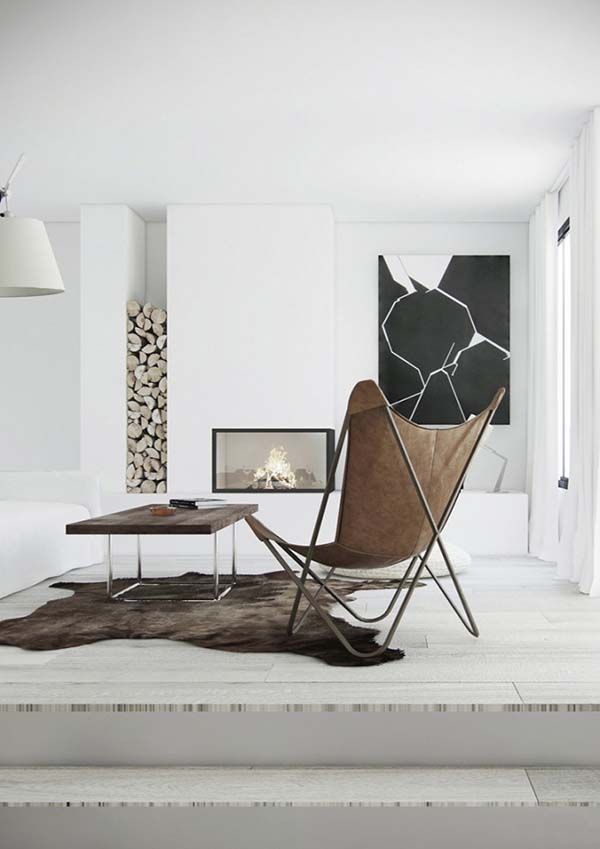 mesmerizing living room office combo ideas | 27 Mesmerizing minimalist fireplace ideas for your living ...