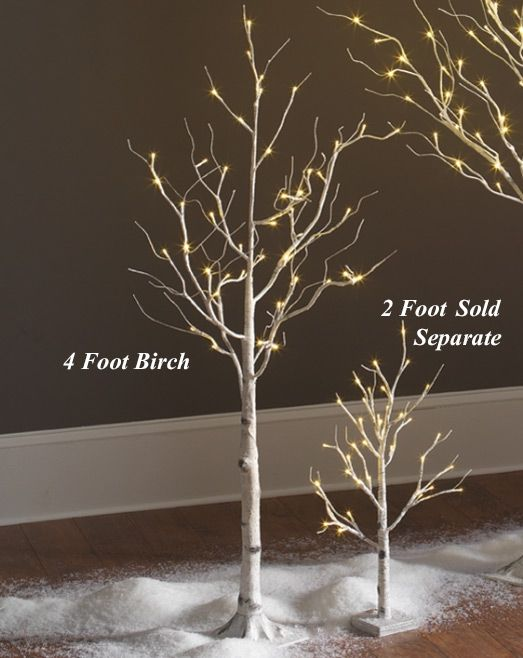 Check Out The Deal On Lighted White Birch Tree 4 Foot 48 Warm White Led S Indoor Outdoor A White Birch Trees White Christmas Trees Tree Branch Centerpieces