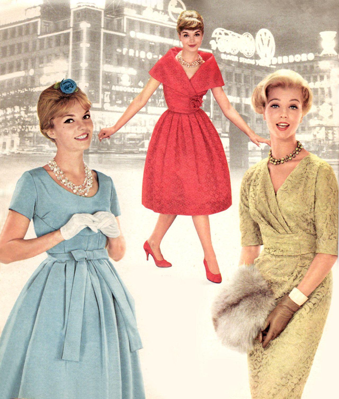 Mode femme robe annee 60