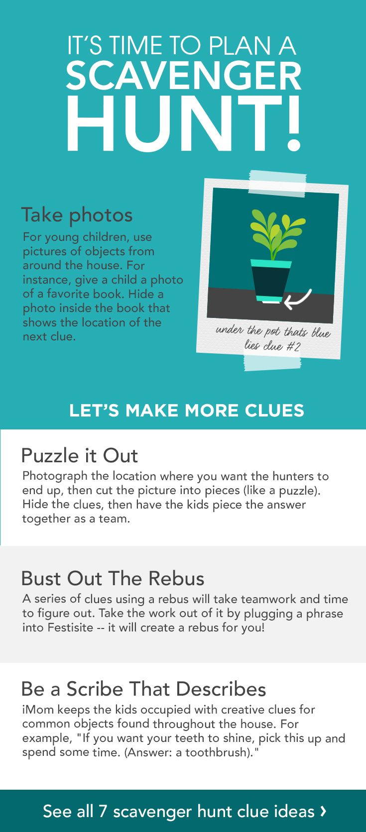 Creative Scavenger Hunt Clues for Kids Scavenger hunt