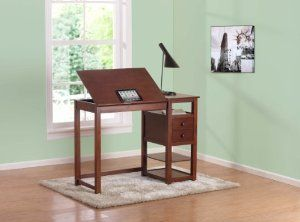 Dorel Asia WM3514 Drafting and Craft Counter Height Desk, Espresso:Amazon:Home & Kitchen