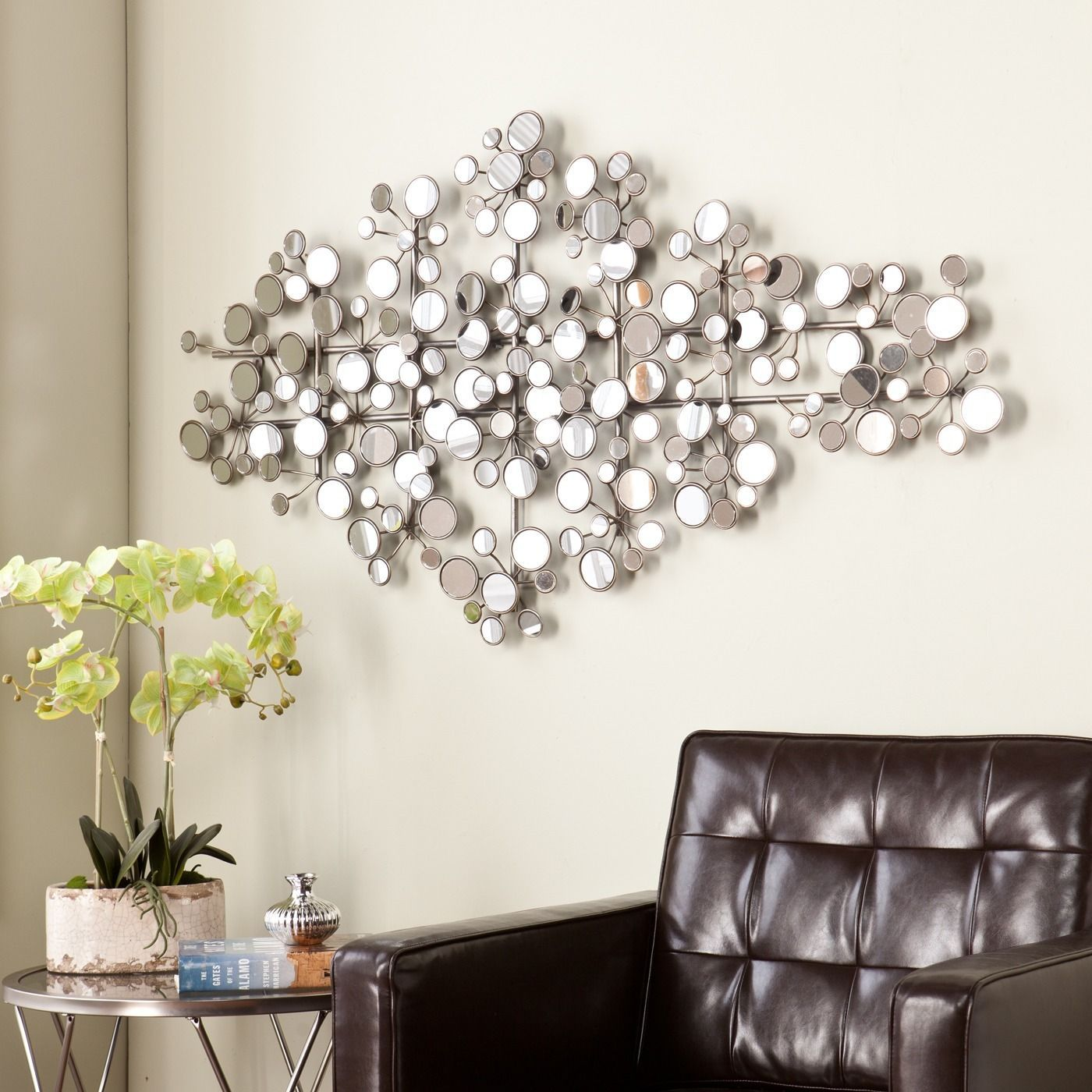 Mirror Wall Sculpture harper blvd olivia mirrored metal wall sculpture - 15994538